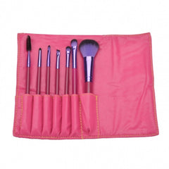 7PCS Professional Makeup Brush Set Cosmetic Brushes And Pouch Bag Case - Oh Yours Fashion - 3