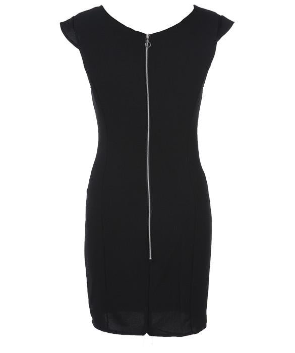 V-Neck Sexy Package Hip Slim Short Dress - MeetYoursFashion - 4