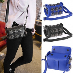 Korean Stylish Cool Personality Fashion Rivet Bag Shoulder Bag Handbags Cross Bags - Oh Yours Fashion - 1