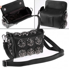 Korean Stylish Cool Personality Fashion Rivet Bag Shoulder Bag Handbags Cross Bags - Oh Yours Fashion - 2