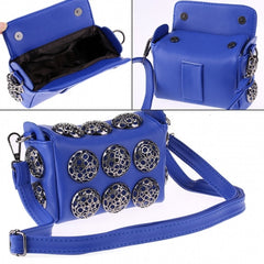 Korean Stylish Cool Personality Fashion Rivet Bag Shoulder Bag Handbags Cross Bags - Oh Yours Fashion - 3