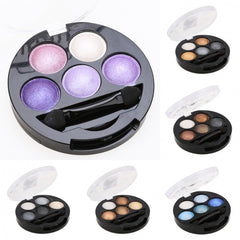 Hot 5 Colors Eye Shadow Creamy Pigment Shimmer Powder Mineral Texture Waterproof Makeup - Oh Yours Fashion - 1