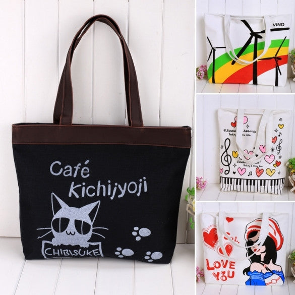 New Fashion European Style Women Retro Leisure Messenger Shoulder Bag Canvas Bag - Oh Yours Fashion - 1