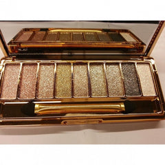 Women 9 Colors Waterproof Makeup Glitter Eyeshadow Palette with Brush - Oh Yours Fashion - 8