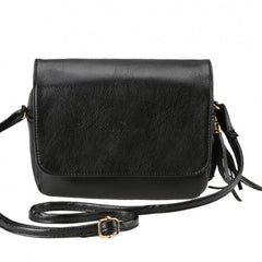 New Korean Fashion Women's Synthetic Leather Tassel Small Size Cross Shoulder Bag - Oh Yours Fashion - 2