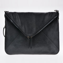 New Women Faux Leather Cool Personality Envelope Clutch Bag Messenger Bag Shoulder Bag - Oh Yours Fashion - 2
