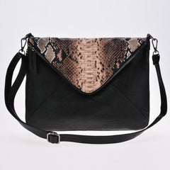 New Women Faux Leather Cool Personality Envelope Clutch Bag Messenger Bag Shoulder Bag - Oh Yours Fashion - 3