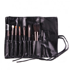 Hot Sale 7 Pieces Travel Makeup Brush With Faux Leather Roll Pouch Bag - Oh Yours Fashion - 4