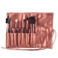 Hot Sale 7 Pieces Travel Makeup Brush With Faux Leather Roll Pouch Bag - Oh Yours Fashion - 5