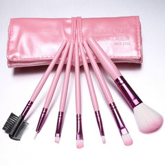 Hot Sale 7 Pieces Travel Makeup Brush With Faux Leather Roll Pouch Bag - Oh Yours Fashion - 6