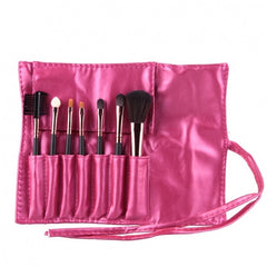 Hot Sale 7 Pieces Travel Makeup Brush With Faux Leather Roll Pouch Bag - Oh Yours Fashion - 7