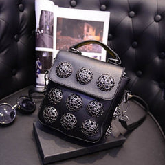 New Fashion Women Synthetic Leather Hollow Out Button Decorated Handbag/Shoulder Bag/Messenger Bag - Oh Yours Fashion - 2