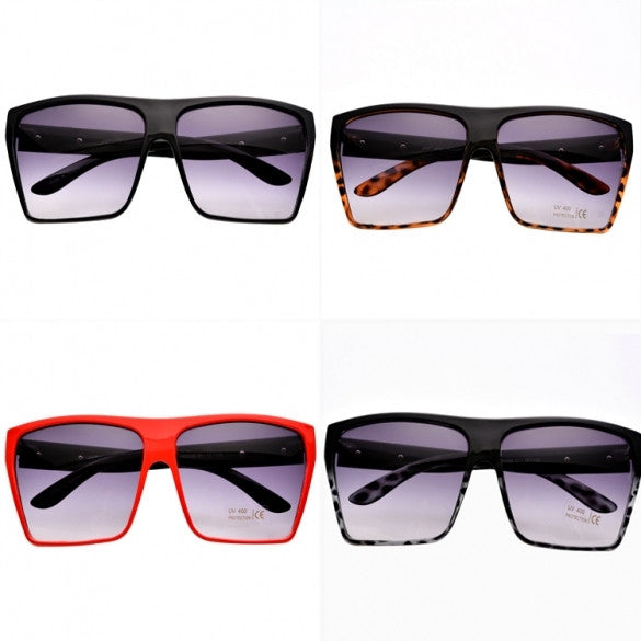 Unisex Retro Style Square Plastic Oversized Frame Eye Glasses Sunglasses - Oh Yours Fashion - 1