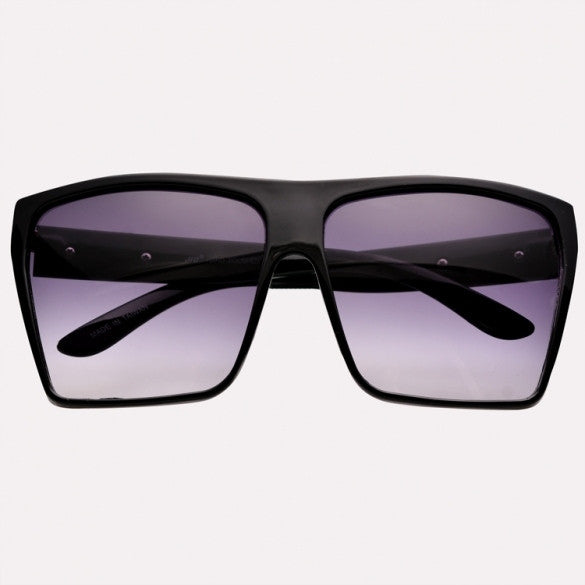 Unisex Retro Style Square Plastic Oversized Frame Eye Glasses Sunglasses - Oh Yours Fashion - 2
