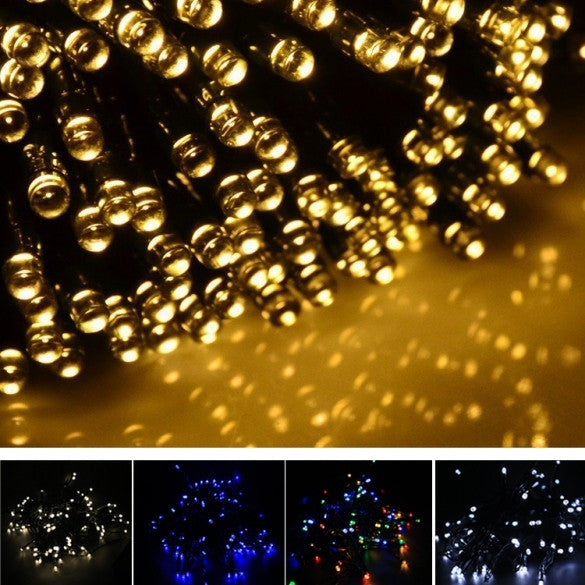17M 100 LED Solar String Light Multi-color Waterproof Christmas Party Outdoor Decor Light - Oh Yours Fashion - 1