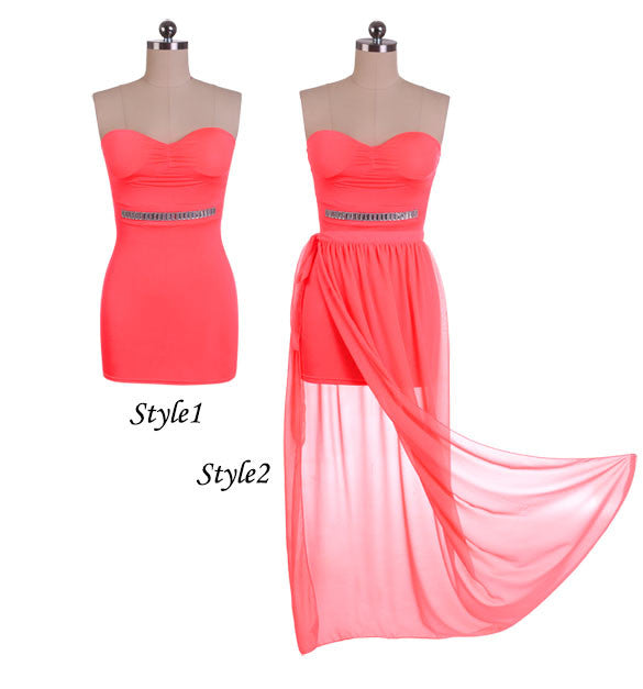 Irregular Low High Bodycon Prom Dress - O Yours Fashion - 5