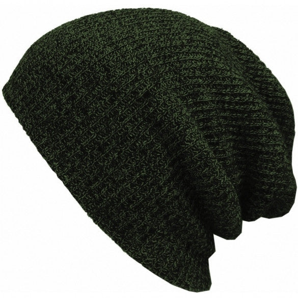 New Fashion Wool Blend Knit Unisex Men Women Beanie Oversize Spring Fall Winter Hat Ski Cap - Oh Yours Fashion - 1