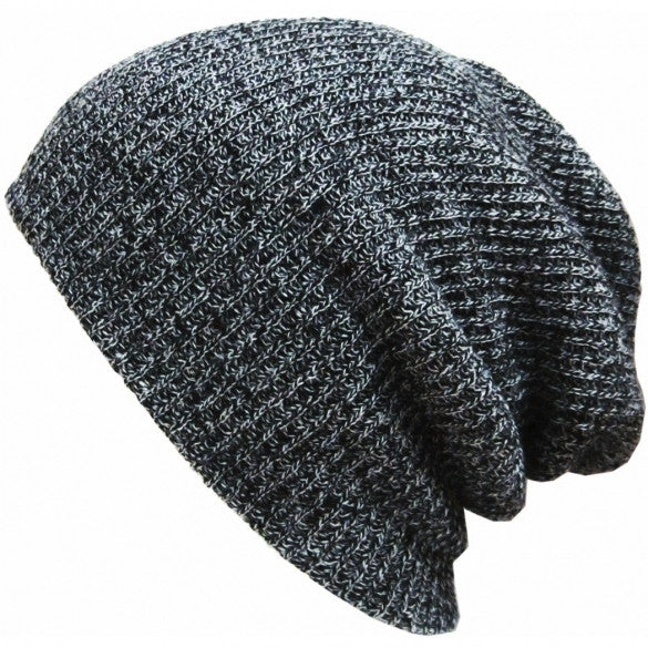 New Fashion Wool Blend Knit Unisex Men Women Beanie Oversize Spring Fall Winter Hat Ski Cap - Oh Yours Fashion - 4