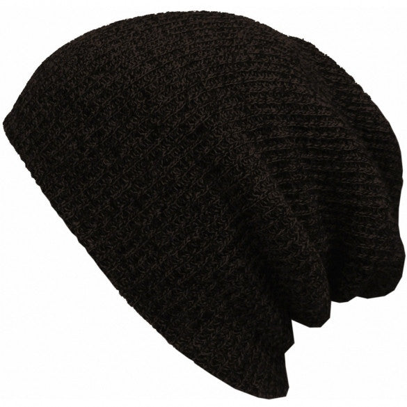 New Fashion Wool Blend Knit Unisex Men Women Beanie Oversize Spring Fall Winter Hat Ski Cap - Oh Yours Fashion - 5