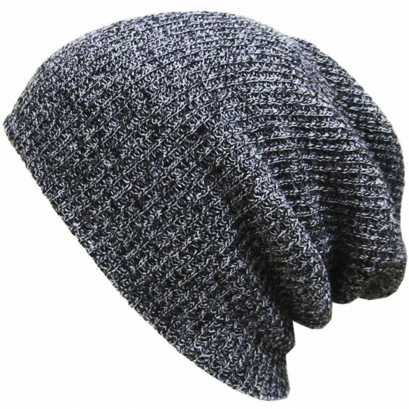 New Fashion Wool Blend Knit Unisex Men Women Beanie Oversize Spring Fall Winter Hat Ski Cap - Oh Yours Fashion - 6
