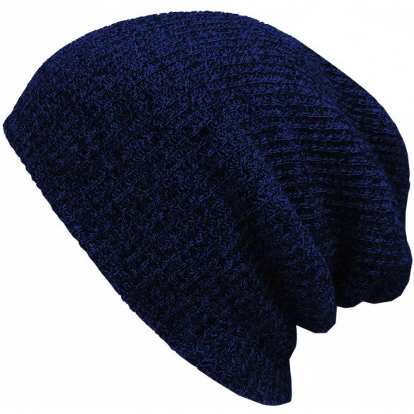 New Fashion Wool Blend Knit Unisex Men Women Beanie Oversize Spring Fall Winter Hat Ski Cap - Oh Yours Fashion - 8