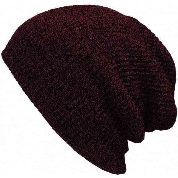 New Fashion Wool Blend Knit Unisex Men Women Beanie Oversize Spring Fall Winter Hat Ski Cap - Oh Yours Fashion - 9