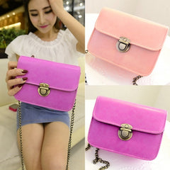 New Fashion Women Synthetic Leather Vintage Style Casual Mini Shoulder Bag Handbag - Oh Yours Fashion - 1