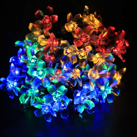 7M 50 LED Solar Flower String Light Multi-color Waterproof Christmas Party Outdoor Decor Light - Oh Yours Fashion - 3