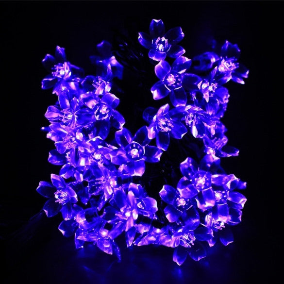 7M 50 LED Solar Flower String Light Multi-color Waterproof Christmas Party Outdoor Decor Light - Oh Yours Fashion - 5
