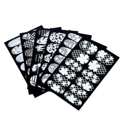 Flower 3D Lace Nail Art Decoration Self-Adhesive Nail Stickers Decals Full Wraps 6 Sheets/ Packs - Oh Yours Fashion - 2