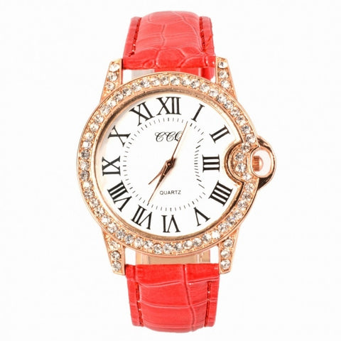 Hot Fashion Practical 6 Colors Adjustable Synthetic Leather Strap Women Watches