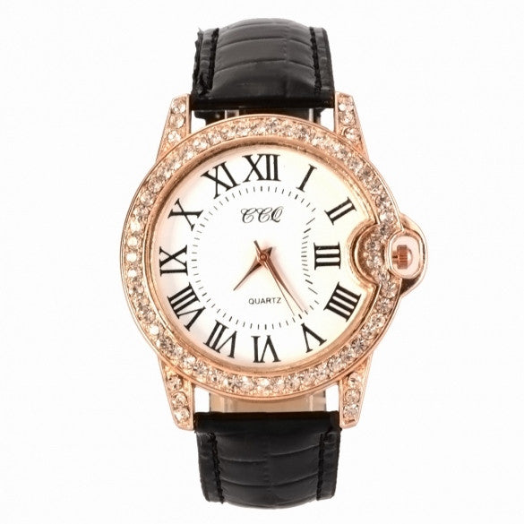 Hot Fashion Practical 6 Colors Adjustable Synthetic Leather Strap Women Watches - Oh Yours Fashion - 2