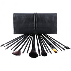 18 PCS Professional Makeup Cosmetic Brushes Set Tools With Leather Like Ties Case - Oh Yours Fashion - 1