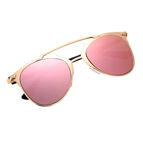 Vintage Style Unisex Mirror Lens Sunglasses Glasses Eyewear Metal Frame - Oh Yours Fashion - 1