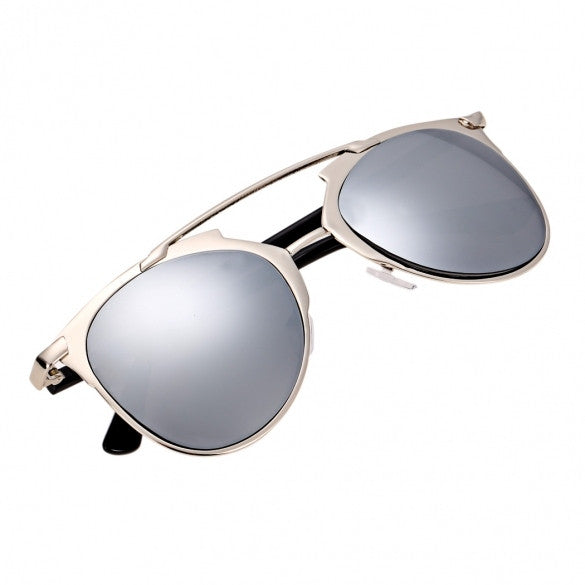 Vintage Style Unisex Mirror Lens Sunglasses Glasses Eyewear Metal Frame - Oh Yours Fashion - 2