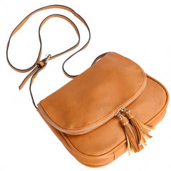Sweet Women Girls Shoulder Bag Synthetic Leather Fringe Bag Cross Body Message Bag - Oh Yours Fashion - 3