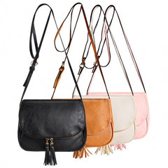 Sweet Women Girls Shoulder Bag Synthetic Leather Fringe Bag Cross Body Message Bag - Oh Yours Fashion - 5