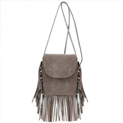 New Fashion Korean Style Girls Women Small Shoulder Bag Tassel Message Bag - Oh Yours Fashion - 4