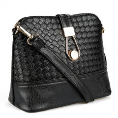 Fashion Korean Women Synthetic Leather Shoulder Small Bag Tote Weave Pattern Clutch Handbag Purse - Oh Yours Fashion - 3
