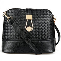 Fashion Korean Women Synthetic Leather Shoulder Small Bag Tote Weave Pattern Clutch Handbag Purse - Oh Yours Fashion - 4