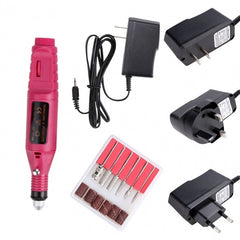 Fast Nail Art Drill Kit Set Electric File Buffer Bits Acrylic Portable Salon Machine US/EU/UK Plug - Oh Yours Fashion - 1