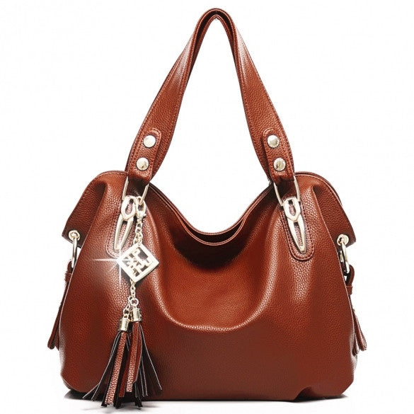 Women's Fashion Casual Leather Handbags Totes Purses 4 Colors - Oh Yours Fashion - 3