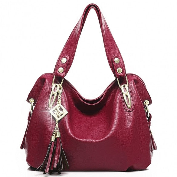 Women's Fashion Casual Leather Handbags Totes Purses 4 Colors - Oh Yours Fashion - 5