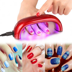 9W 110V LED CCFL Nail Art UV Lamp Light Dryer Curing Machine Gel Polish US Plug 5 Colors - Oh Yours Fashion - 5