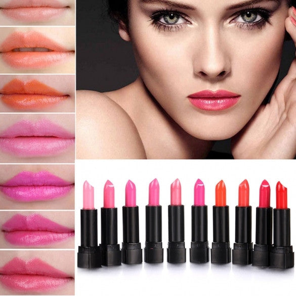 10 Colors Makeup Lipstick Lip Balm Pencil Beauty Long Lasting Lip Stick Set Kit - Oh Yours Fashion - 1