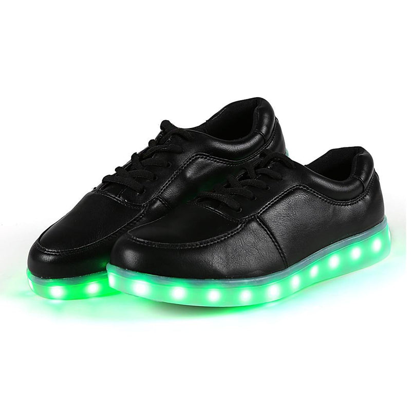 Unisex Cool LED Light Lace Up Luminous  Flat Sneaker Shoes - Meet Yours Fashion - 4