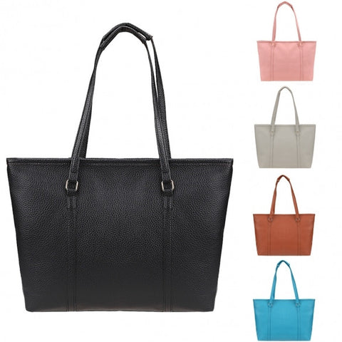 Women Fashion Solid Color Large Capacity Bag Shoulder Tote Bag