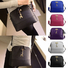 Women Fashion Synthetic Leather Small Solid Handbag Cross Body Shoulder Bags - Oh Yours Fashion - 3