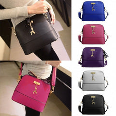 Women Fashion Synthetic Leather Small Solid Handbag Cross Body Shoulder Bags - Oh Yours Fashion - 5