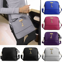 Women Fashion Synthetic Leather Small Solid Handbag Cross Body Shoulder Bags - Oh Yours Fashion - 1